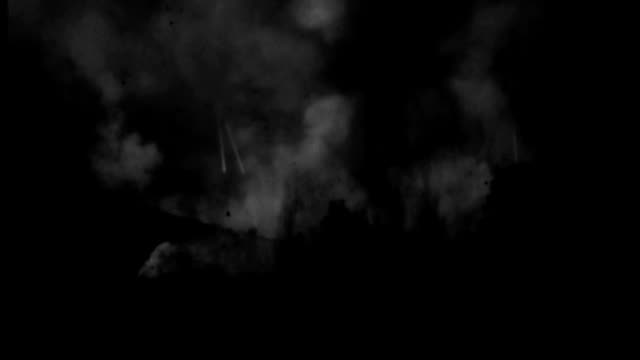 explosions flash in an airfield during an air raid. - 1943 stock videos & royalty-free footage