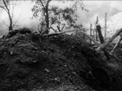 montage explosions soldiers in trenches during russojapanese war / documentary - 1904 stock videos & royalty-free footage
