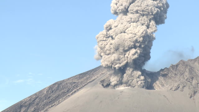 Explosive volcanic eruption at Sakurajima volcano