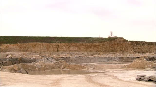 explosives assist in limestone excavation. - limestone stock videos & royalty-free footage