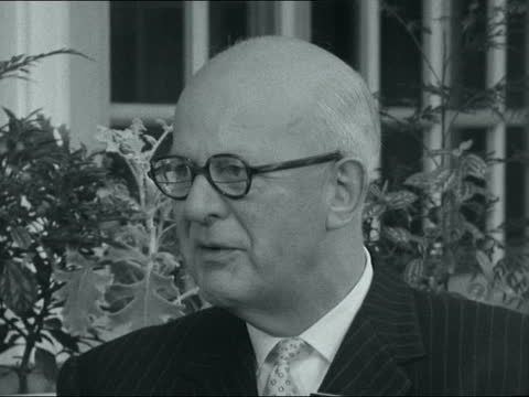 export council conference: sir norman kipping interview; ** digitised version of fs021261003 ** england: eastbourne: ext sir norman kipping interview... - connection stock videos & royalty-free footage