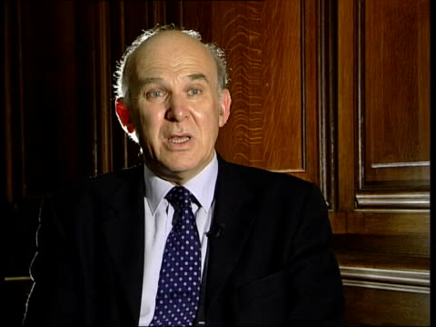 export credit guarantee department under fire:; itn london: vince cable interview sot - we are, through the ecgd, providing a hidden subsidy to... - vince cable stock videos & royalty-free footage