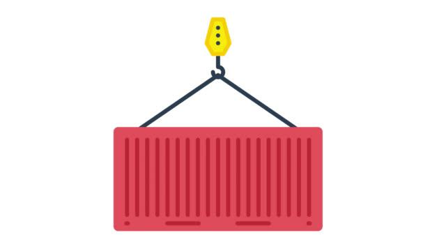vídeos de stock e filmes b-roll de export import glitch effect icon animation with alpha - design plano