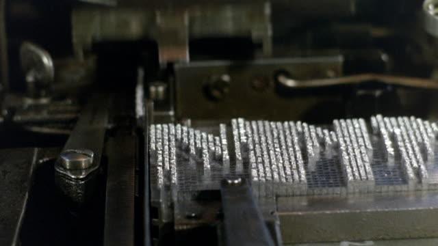 vídeos de stock, filmes e b-roll de 1968 montage export service bulletin sales request at the printer's shop / london, england - enfoque de objeto sobre a mesa