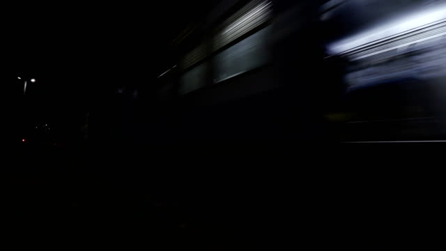 express train at night - moving past stock videos & royalty-free footage