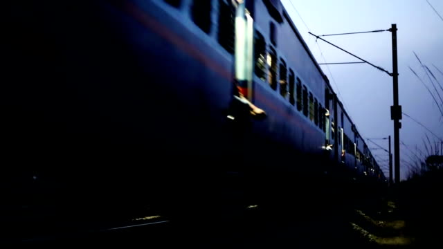 express train at night - headlight stock videos & royalty-free footage