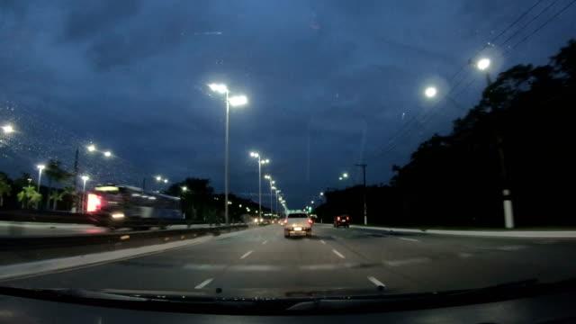 expresso sul highway, praia grande, brasilien - windschutzscheibe stock-videos und b-roll-filmmaterial