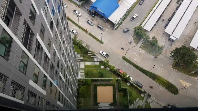 expressway bangna downtown view, bangkok , thailand - high up stock videos & royalty-free footage