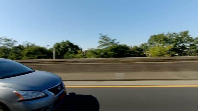 ニューヨーク高速道路 xi 同期運転スタジオ プロセス プレート シリーズ左側 - ムービングプロセスプレート点の映像素材/bロール