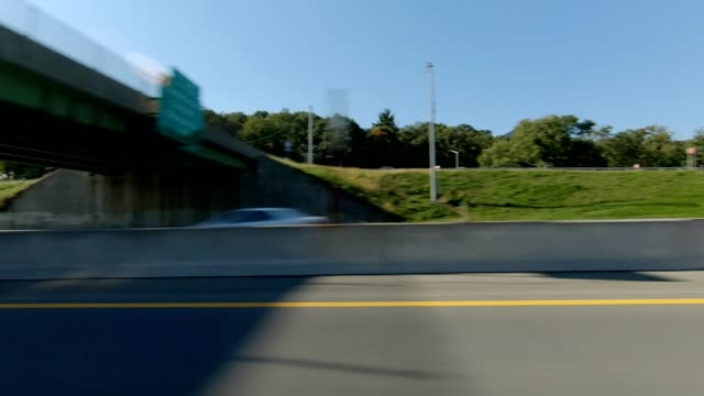 nyc expressway xvi synched series left side driving studio process plate - driving plate stock videos & royalty-free footage