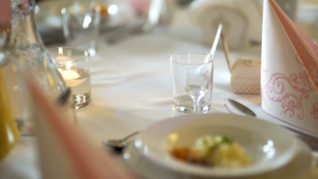 Exquisitely decorated table for Romantic dinner.