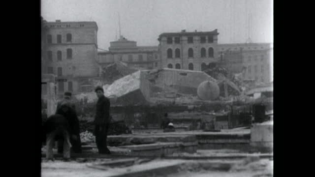 ext destroyed fuhrerbunker ruins in berlin; 1949 - rubble stock videos & royalty-free footage