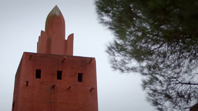 ext missiri mosque, frejus, france - mosque stock videos & royalty-free footage