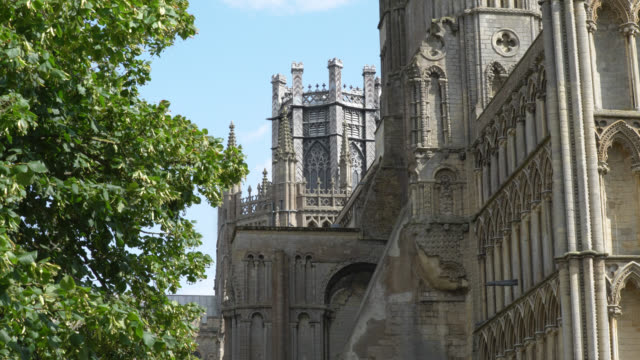 ext octagon tower of ely cathedral, uk - octagon stock videos and b-roll footage