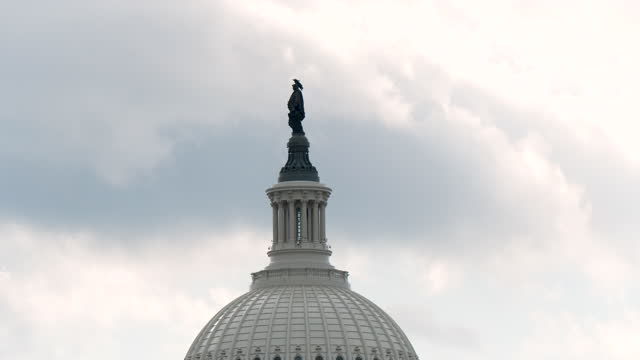 extensive security measures taken near capitol hill in washington d.c. on the day of joe biden's presidential inauguration on january 20, 2021. - overcast stock videos & royalty-free footage