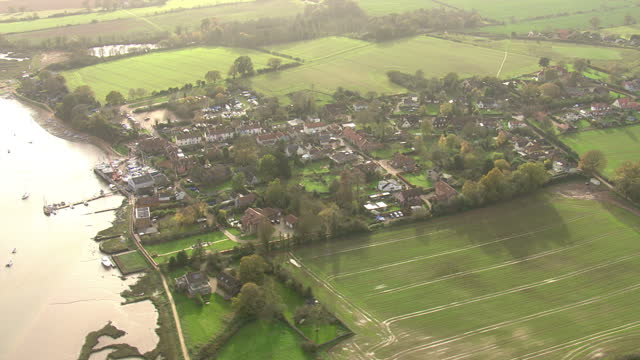 exterior aerial shots along the river deben tidal estuary on november 17, 2015 in leiston, england. - eroded stock videos & royalty-free footage
