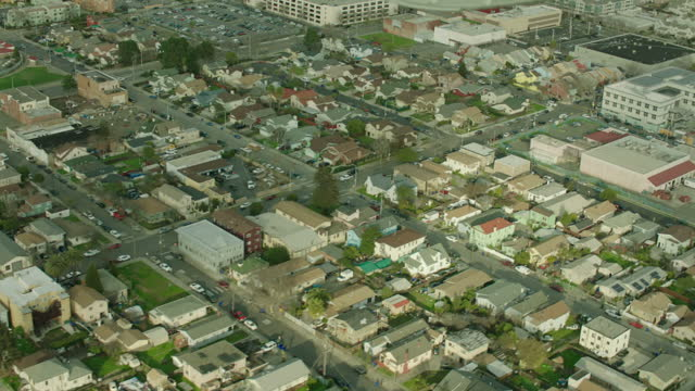 exterior aerial shots around the san francisco bay area including residential homes and factories on 6 june 2016 in san francisco, united states - san francisco bay stock videos & royalty-free footage