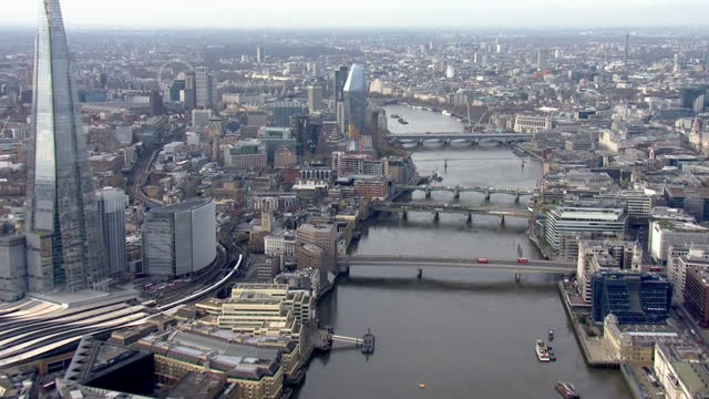 GBR: London Aerial Stockshots