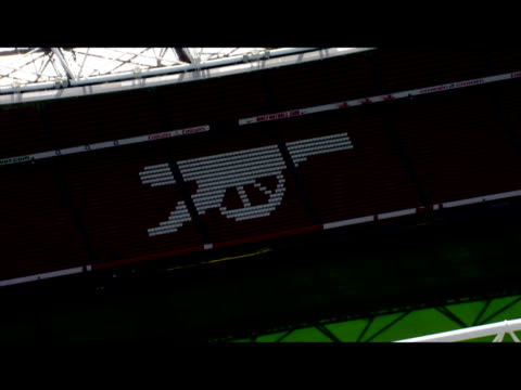 Exterior aerial shots of Arsenal Football Club's empty Emirates stadium on a clear sunny nonmatch day Aerials of the Emirates stadium on June 01 2010...