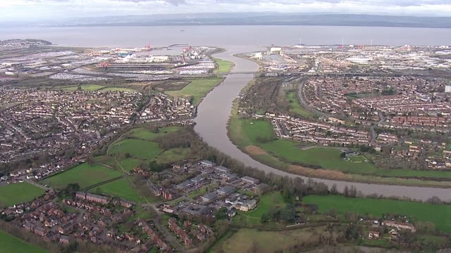 exterior aerial shots of bristol port on 12th february 2019 in bristol england - bristol england stock videos & royalty-free footage