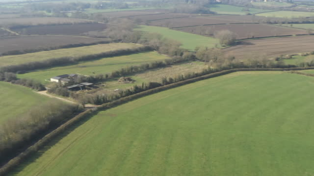 exterior aerial shots of police incident tents in a field near swindon in a new search for missing linda razzell on 26 february 2019 in swindon,... - wiltshire stock videos & royalty-free footage
