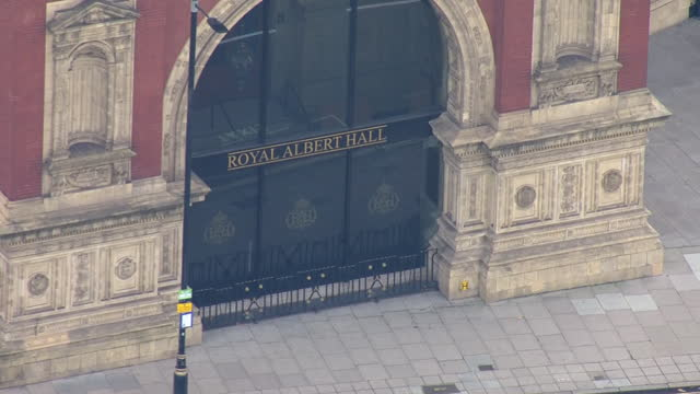 exterior aerial shots of royal albert hall on 24 november 2020 in london, united kingdom. - aerial view stock videos & royalty-free footage
