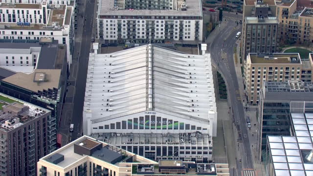 exterior aerial shots of sse arena wembley on 24 november 2020 in london, united kingdom. - wembley arena stock videos & royalty-free footage