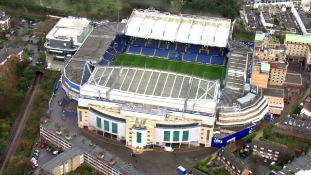 Exterior aerial shots of Stamford Bridge Chelsea Football Club's stadium on 31 January 2018 in London United Kingdom