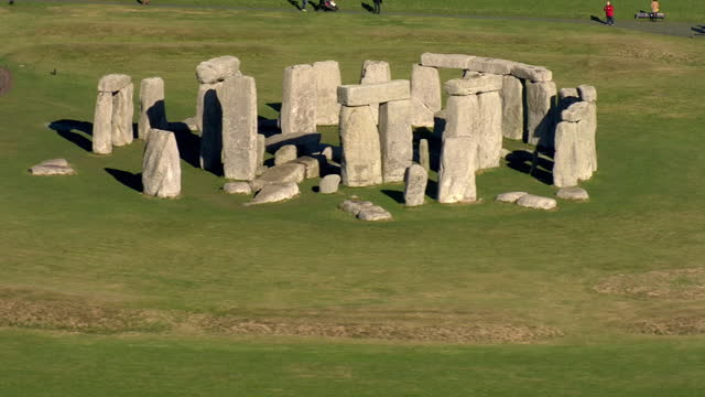 exterior aerial shots of stonehenge on 7 february 2018 in england. - obelisk stock videos & royalty-free footage