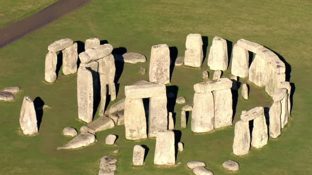 exterior aerial shots of stonehenge on 7 february 2018 in england. - elevated view stock videos & royalty-free footage