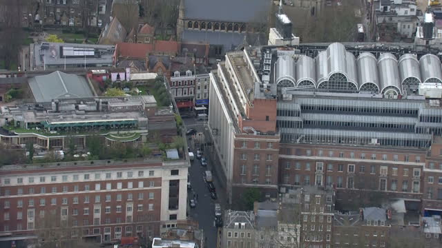 exterior aerial shots of the evening standard building and hyde park on 17 march 2017 in london united kingdom - ロンドン ハイドパーク点の映像素材/bロール