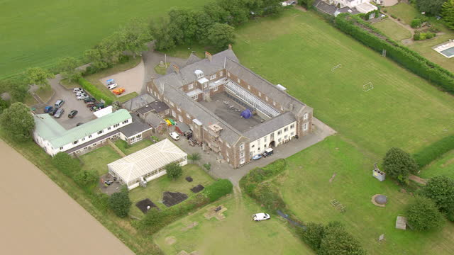 Exterior aerial shots of the former Haut de la Garenne children's home on Jersey on July 04 2015 in Saint Helier England