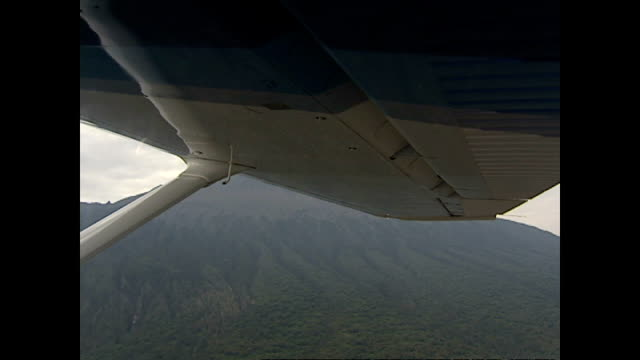 exterior aerial shots of the plains of mt kilimanjaro national park on july 31 2002 in dodoma tanzania - ドドマ点の映像素材/bロール