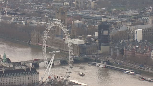 exterior aerial shots of the uk parliament the palace of westminster on 6th february 2019 in london england - famous place stock videos & royalty-free footage
