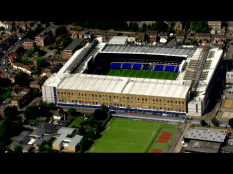 Exterior aerial shots of Tottenham Hotspur Football Club's empty White Hart Lane stadium on a clear sunny nonmatch day Sky News at White Hart Lane on...