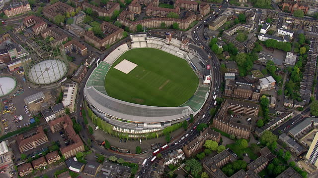 exterior aerial shots showing the kia oval cricket ground. on april 29, 2014 in london, england. - oval kennington stock videos & royalty-free footage
