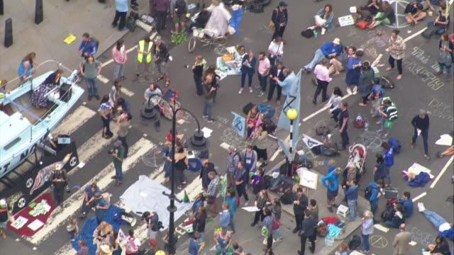 GBR: Extinction Rebellion protesters block roads in London