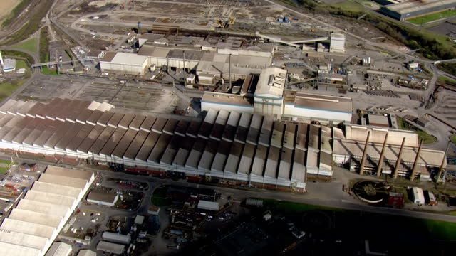 exterior aerials of rotherham liberty steel works on 25 march 2021 in rotherham on 25 march 2021 in rotherham, united kingdom. - mill stock videos & royalty-free footage