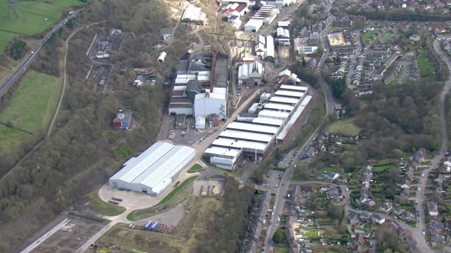 exterior aerials of stockbridge liberty steel works on 25 march 2021 sheffield, united kingdom. - mill stock videos & royalty-free footage