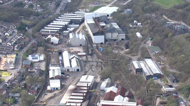 exterior aerials of stockbridge liberty steel works on 25 march 2021 sheffield, united kingdom. - sheffield stock videos & royalty-free footage