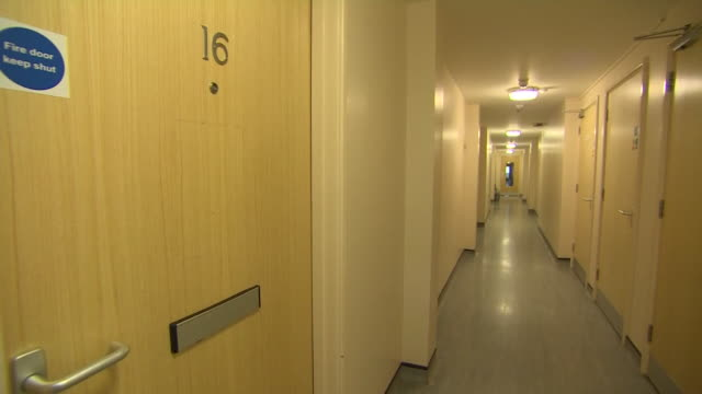 exterior and interior of arrowe park hospital and nursing accommodation where people exposed to coronavirus will stay during quarantine - overexposed stock videos & royalty-free footage