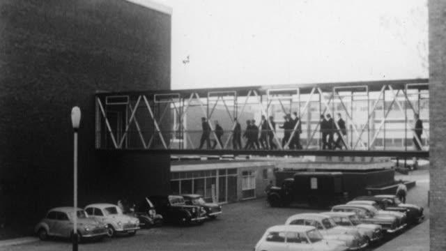 1962 MONTAGE Exterior and Interior of Holland Park School / Kensington, London, England