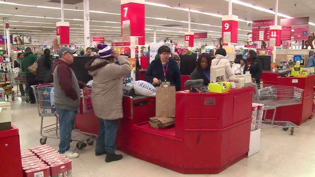 wgn exterior and interior of kmart on thanksgiving morning in chicago on november 26 2015 - receipt stock videos & royalty-free footage