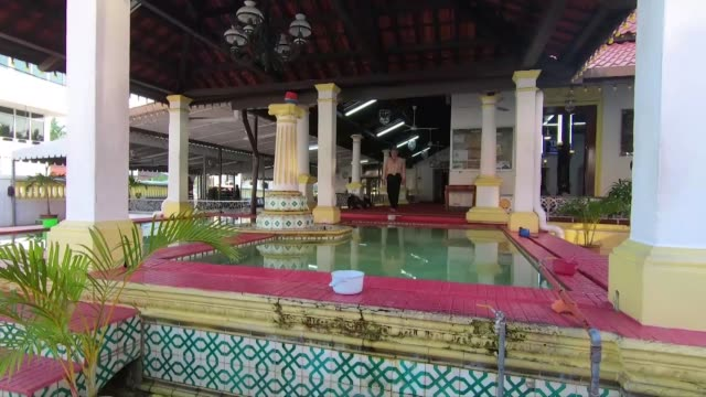 exterior and interior shots of kampung hulu mosque in malacca malaysia on august 05 2019 - malacca stock videos and b-roll footage