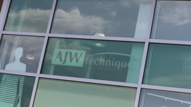 Exterior and lobby footage of AJW Technique Headquarters in Montreal Quebec Canada on July 20 2017 Photographer Christinne Muschi Shots Shots Wide...