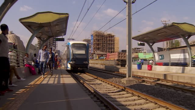 exterior and on board shots of a tram in ethiopia - tram stock videos & royalty-free footage