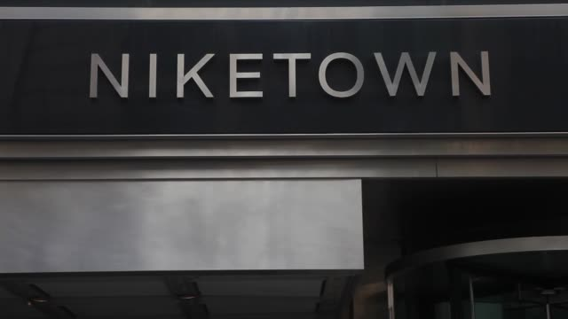 Exterior And Signage Shots Of Niketown A Nike Shoe Store Location On 57th Street In New