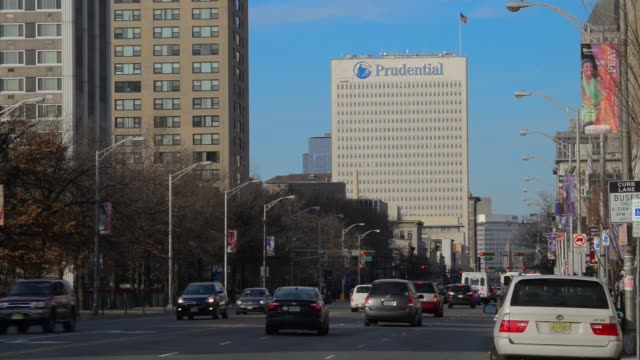 Exterior and signage shots of the Prudential Building in downtown Newark New Jersey on March 3rd 2016 Photographer Ron Antonelli/Bloomberg Shots Wide...
