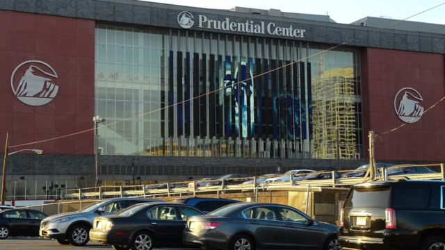 Exterior and signage shots of the Prudential Center in downtown Newark New Jersey on March 3rd 2016 Photographer Ron Antonelli/Bloomberg Shots Wide...