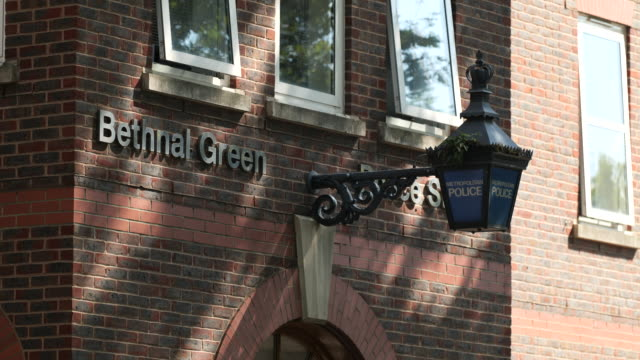 exterior bethnal green police station - police force stock videos & royalty-free footage